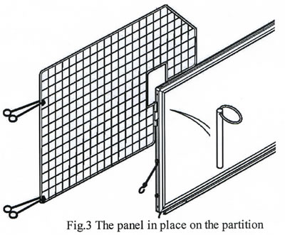 HB505 & HB510 Head Partition showing ties in place
