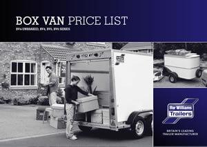 Box Van Price List