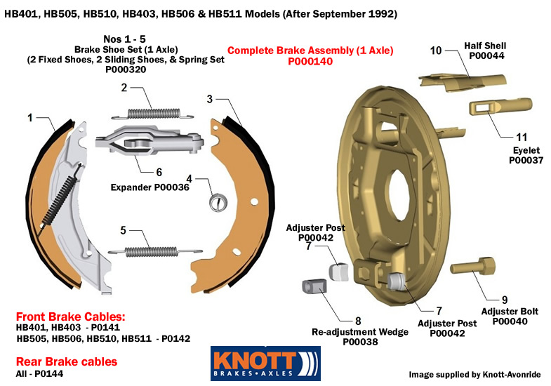 Brake parts hb and