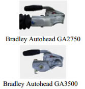 Bulldog hitchlocks for Bradley Autohead GA2750 & GA3500 hitch heads