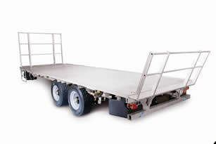 Ifor Williams StockMaster Flatbed with Hay Rails