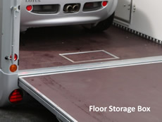 Ifor Williams Transporta Enclosed Car Transporter floor storage box