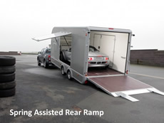 Ifor Williams Transporta Enclosed Car Transporter spring assisted rear ramp